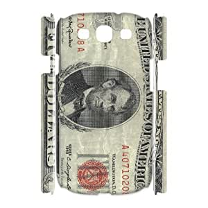 JFLIFE Money Dollar Phone Case for samsung galaxy s3 3D Shell Phone [Pattern-1]