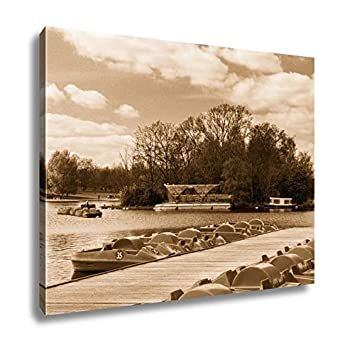 Sunny day home office Homegram Image Unavailable Amazoncom Amazoncom Ashley Canvas Pedal Boat On The Lake In Park On Sunny