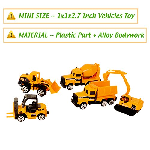 Construction Vehicles,6 Pack Assorted Engineering Vehicles