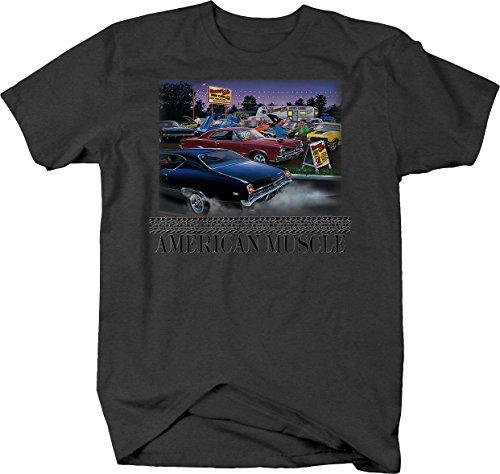 American Muscle - GTO Vette Camaro Chevelle Hot Rod Car Lot Tshirt - XLarge