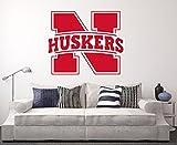 Nebraska Cornhuskers Wall Decal Home Decor Art NCAA Team Sticker