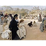 Albert Edelfelt Giclee Canvas Print Paintings Poster Reproduction(The Luxembourg Gardens)