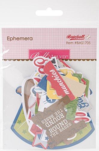 Bella Blvd Baseball Paper Pieces Cardstock Die-Cuts-Ephemera Shapes; Tabs & Words ()