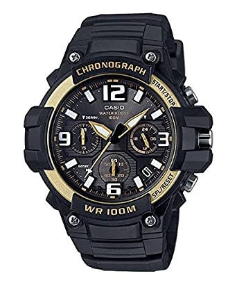 a7dab8dd89 Amazon   [カシオ]CASIO 腕時計 クロノグラフ MCW-100H-9A2V ゴールド ...