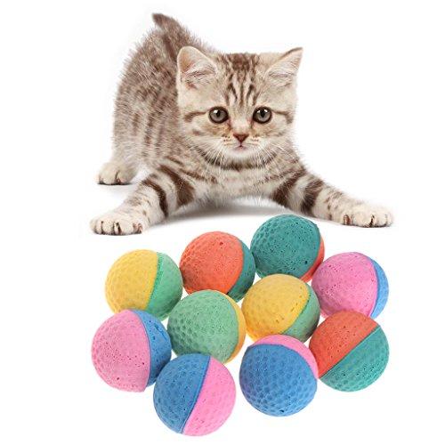 - Kalttoyi 10 Pcs Pet Toy Latex Balls, Colorful Chew Dogs Cats Puppy Kitten Soft Elastic