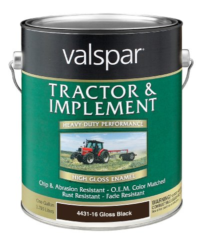 (Valspar 4431-16 Gloss Black Tractor and Implement Paint - 1 Gallon)