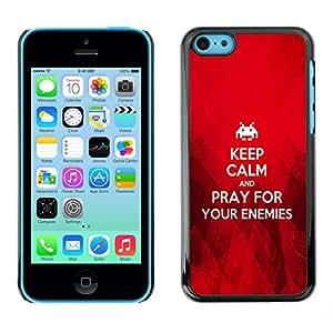 Paccase / Dura PC Caso Funda Carcasa de Protección para - BIBLE Keep Calm And Pray For Your Enemies - Apple Iphone 5C