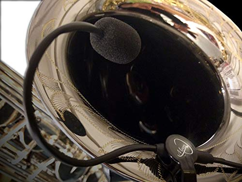 SOPRANONISSIMO Saxophone Microphone, The Feather with Flexible Micro-Goose Neck by Myers Pickups - Micro Saxophone Neck