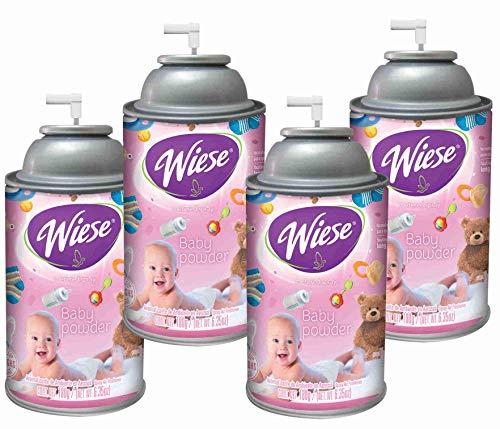 (Automatic Air Freshener Spray, Baby Powder, 7 oz. Can, Wiese, Box of 4)