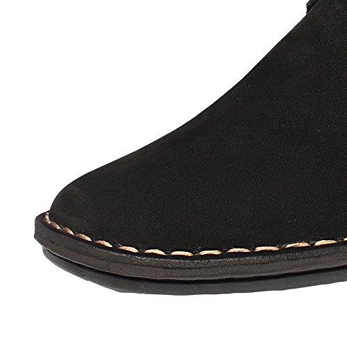 Chamaripa Scarpe Che Aumentano Laltezza Scarpe Di Ascensore Casuali In Camoscio Nero Sollevano 2.56 Taller X58h56-1