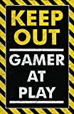 Damdekoli Keep Out Gamer Play Poster, Video Game Artwork, 11 x 17 Inches, Gaming Wall, Bedroom