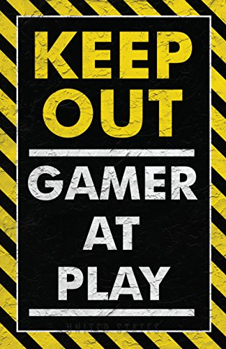 Damdekoli Keep Out Gamer Play Poster, Video Game Artwork, 11