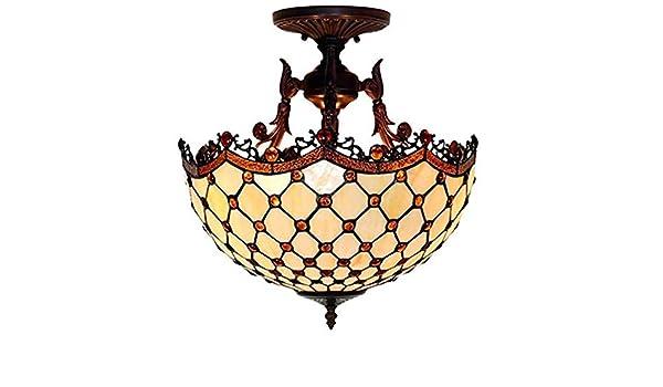 GHPN Estilo Tiffany Lámparas de Techo Lámpara de Techo de ...