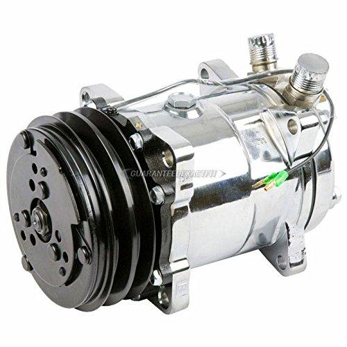 (Chrome A/C AC Compressor & Clutch For Saab 99 VW Dasher & Subaru DL GL GLF - BuyAutoParts 60-01556CN New)