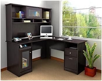 Bush Furniture Cabot L-Desk with Hutch