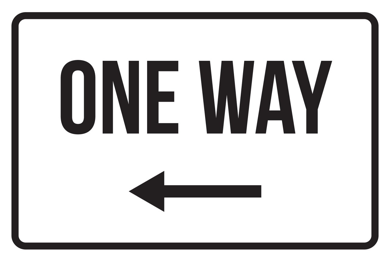iCandy Products Inc One Way Left Arrow No Parking Business Safety Traffic Signs Black - 12x18 - Plastic