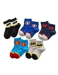 Spiderman Socks,Superhero Boys 5 Pack Socks