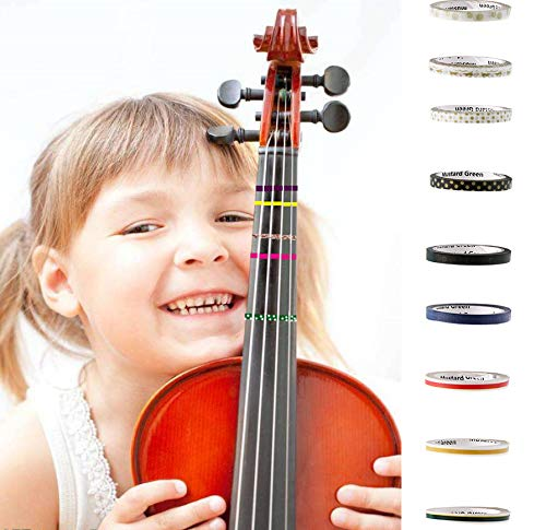 (6PCS Fingerboard Tapes For Violin, Viola and Cello,LSSH Fingering Fret Board Note Position, Mini Colorful Set For Teacher, Student, Kids and Beginner)