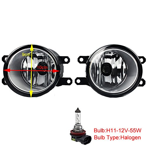 HUAHEE Pair of Front Bumper Driving Fog Lights Fog Lamp for Toyota Car 12-14 Yaris /08-09 Corolla /11-17 Sienna /2017-2018 Toyota C-HR - Bumper Sienna Replacement Toyota