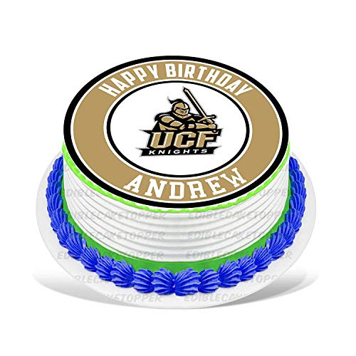 UCF Knights Edible Cake Topper Personalized Birthday 10
