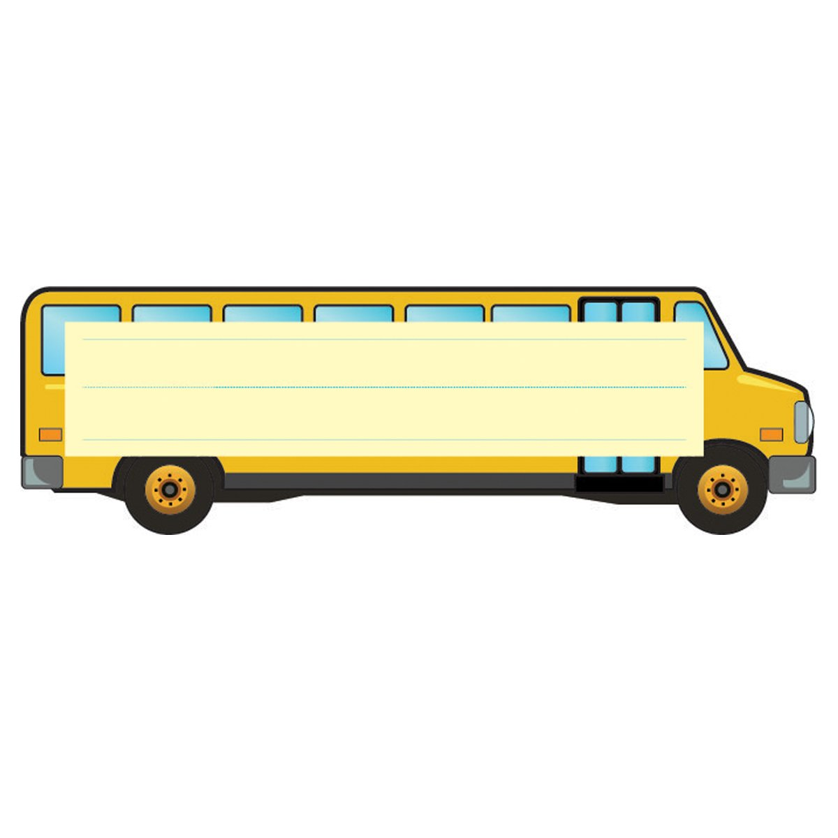 Hygloss Products Die-Cut Desk Name Plate Tag for Students for Classrooms - 30 Pack - School Bus
