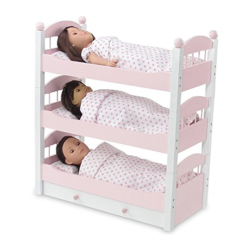18 Inch Doll Furniture Lovely Triple Bunk Bed Includes 3