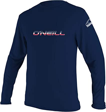 O'Neill Wetsuits Men's Basic Skins UPF 50+ Long Sleeve Sun Shirt, Hybrid