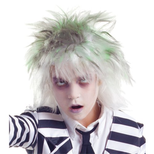 [Party King Graveyard Ghost Wig] (Beetle Juice Wig)