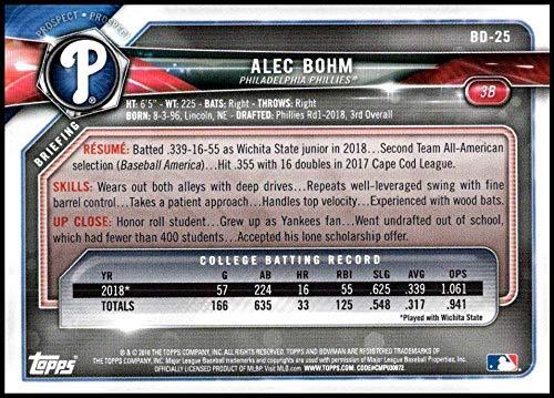 2018 Bowman Draft #BD-25 Alec Bohm NM-MT Phillies