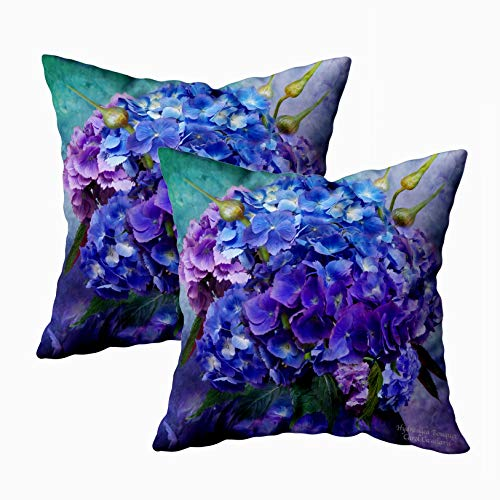 Floral Designer Pillows Throw - Capsceoll Christmas 2PCS Art Designer Decorative Throw Pillow Case 18X18Inch,Home Decoration Pillowcase Zippered Pillow Covers Cushion Cover with Words for Book Lover Worm Sofa Couch