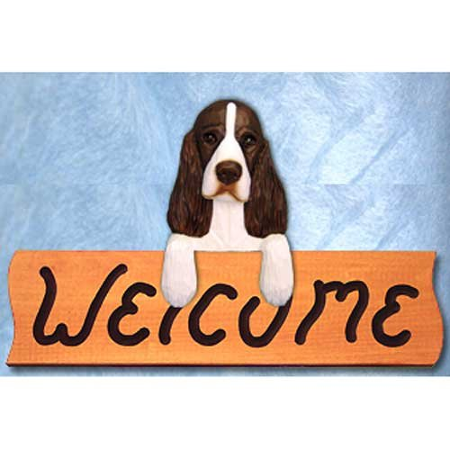 Michael Park English Springer Spaniel Liver Welcome Sign Maple