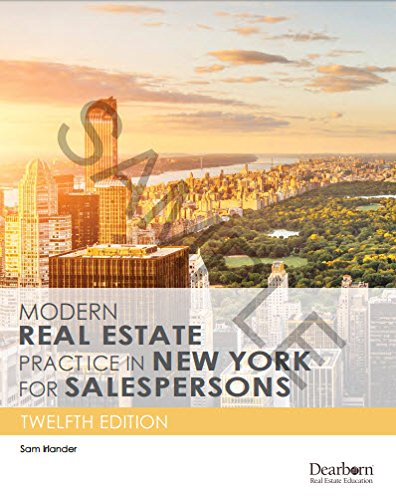 Pdf Law Modern Real Estate Practice in New York for Salespersons