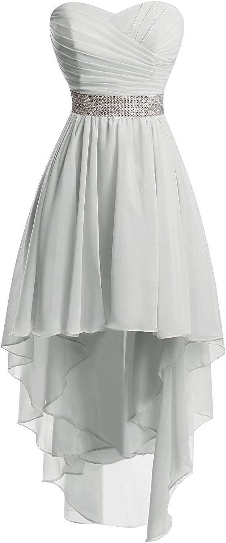 JAEDEN Robes de Demoiselle dhonneur Robe de Bal Chiffon Robe de soir/ée sans Bretelles Haut-Bas