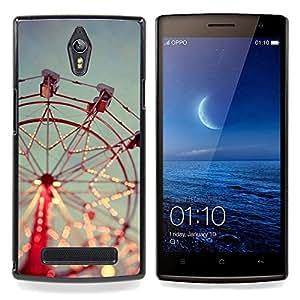Eason Shop / Premium SLIM PC / Aliminium Casa Carcasa Funda Case Bandera Cover - Feliz va Alrededor Red Sky - For OPPO Find 7 X9077 X9007