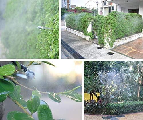 自動散水装置、噴霧ノズルと自動給水器、アーティファクトを散水家庭用バルコニーの野菜のための灌漑設備、プラットフォームの植物灌漑システム (Color : Gray, Size : 10m1)