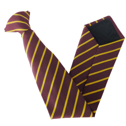 On Size Stripe Gold Clip School amp; Single Ties Variations Colour Maroon amp; 0TTdqnAO