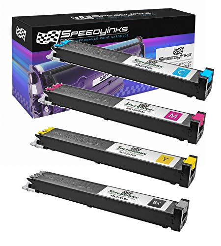 (Speedy Inks Compatible Toner Cartridge Replacement for Sharp MX-2600N (1 Black 1 Cyan 1 Magenta 1 Yellow 4-Pack))