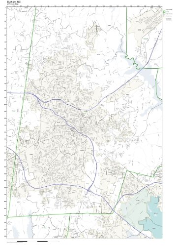 Amazon Com Zip Code Wall Map Of Durham Nc Zip Code Map Laminated