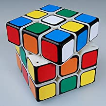 Qiyun 3x3 Speed Cube Puzzle , Black Based Sticker on Primary Body New 5.46cm Fangshi (Funs)