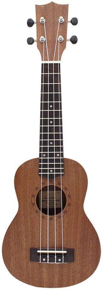 ZGHNAK 21 pulgadas guitarra ukelele soprano Hawaii 4 cuerdas ...