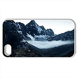 lintao diy Beautiful Mountains - Case Cover for iPhone 4 and 4s (Mountains Series, Watercolor style, White)