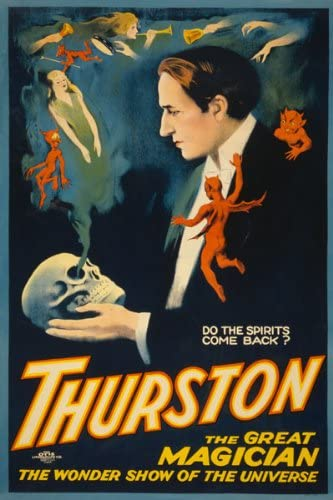 Thurston The Great Wonder Show Magic Vintage Magician New Poster Reproduction