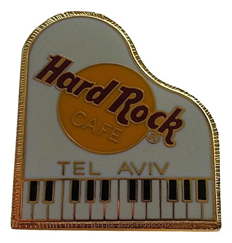 Tel aviv Hard Rock Cafe white PIANO Pin Israel catalogue #9706