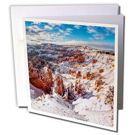Bryce Canyon Amphitheater (3dRose Danita Delimont - Bryce Canyon - Utah, Bryce Canyon National Park, Winter, Bryce Canyon Amphitheater - 6 Greeting Cards with envelopes (gc_251486_1))