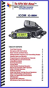 Book Icom ID-880H Mini-Manual by Nifty Accessories