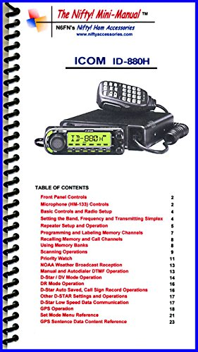 Radio Icom Manual (Icom ID-880H Mini-Manual by Nifty Accessories)