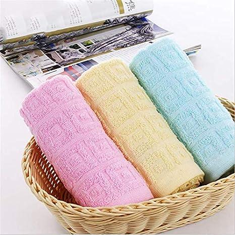 32/x 72/cm markcur waschlappen Guanto in cotone Asciugamano doccia Panni asciugamani ospite asciugamano da bagno Premium colore blu//rosa//giallo Pink