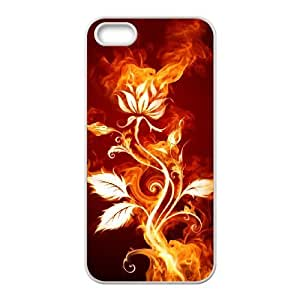 ZK-SXH - Fire Flower Brand New Durable Cover Case Cover for iPhone 5,5G,5S, Fire Flower Cheap Cover Case