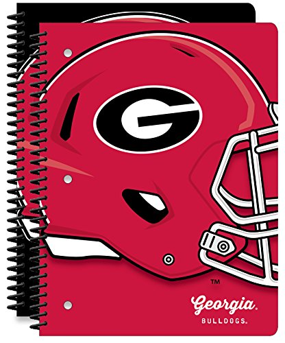 University of Georgia Bulldogs 1-Subject School Notebooks, 2 Pack, 70 Pages Each, 8