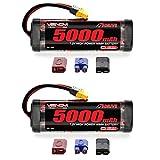 Venom 7.2V 5000mAh 6-Cell NiMH Battery with Universal Plug (EC3/Deans/Traxxas/Tamiya) x2 Packs